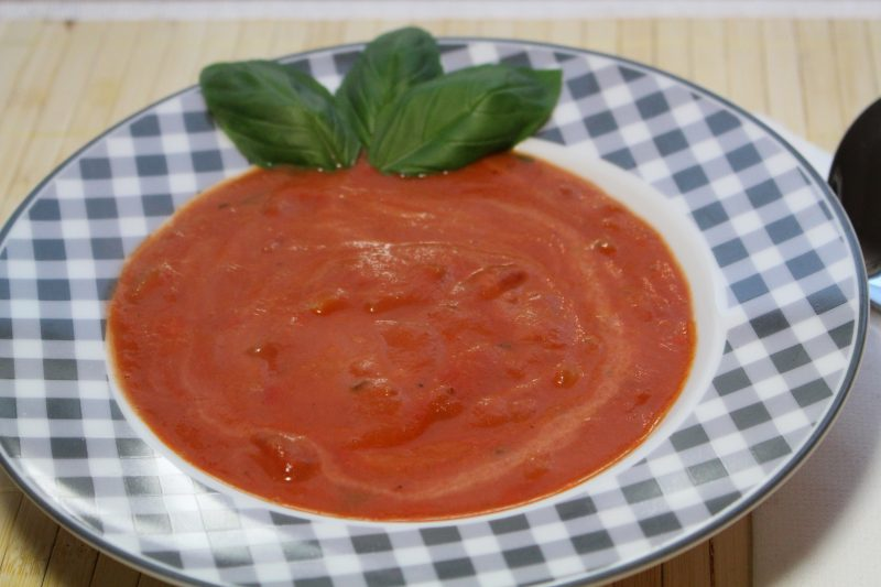 Die low fat Tomatensuppe