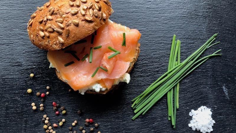 Gurke-Lachs-Sandwich Eiweiß fettarm proteinhaltig