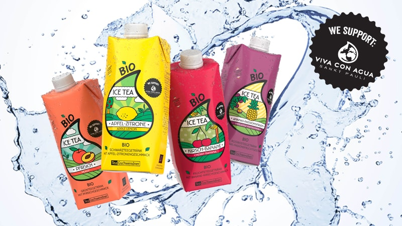 TeeGschwendner Eistees Viva con Agua Kampagnenbild