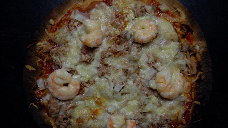 schnelle Pizza-EIweiß