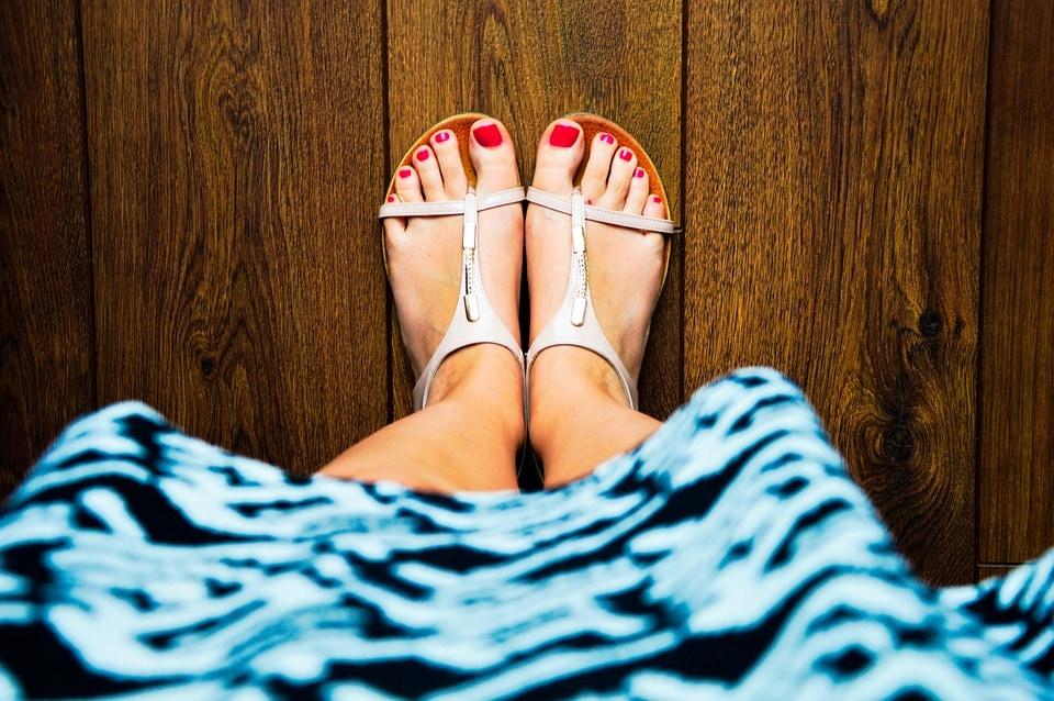 Füße, Sommer
