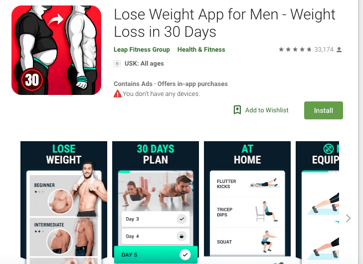 Lose Weight App for Men - Weight Loss