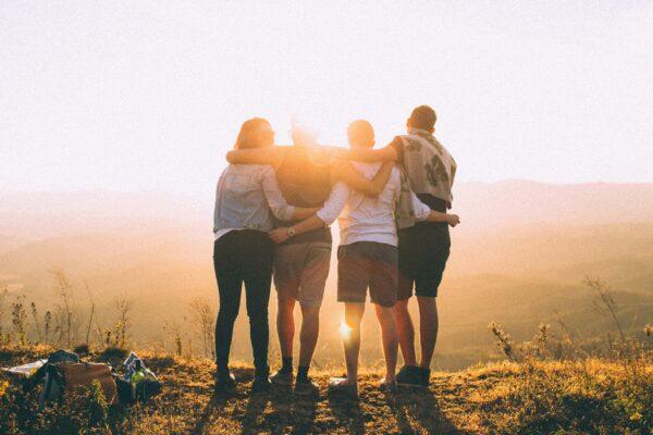 Freunde, Wandern