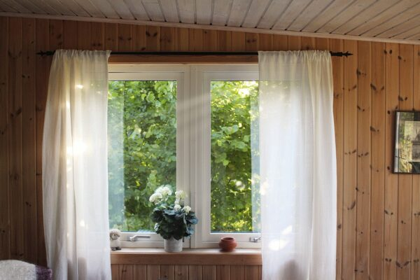 Fenster, Haus, Gardinen