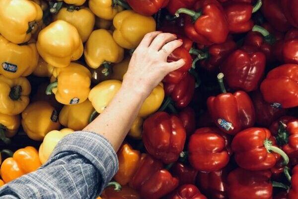 Paprika, Einkaufen, Lebensmittel